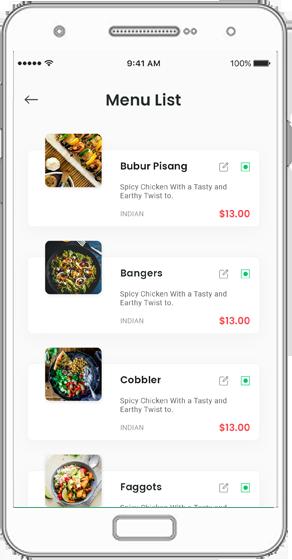OFO System : Restaurant Owner App